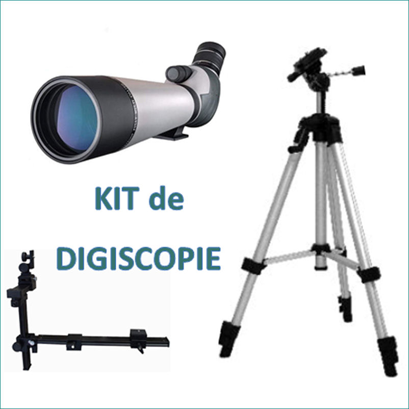 KIT Digiscopie DIGITAL OPTIC Longue vue 20-60x80 (trépied et adaptateur photo)